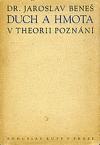 Duch a hmota v theorii poznání obálka knihy