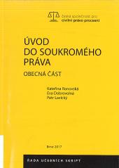 Úvod do soukromého práva: Obecná část obálka knihy