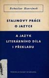Stalinovy práce o jazyce a jazyk literárního díla i překladu