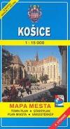 Košice – mapa mesta s mapou okolia