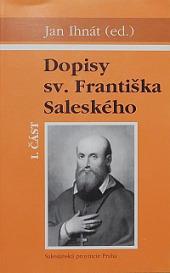 Dopisy sv. Františka Saleského I. část obálka knihy
