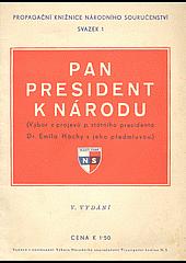 Pan president k národu obálka knihy