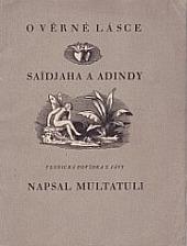 O věrné lásce Saidjaha a Adindy obálka knihy