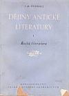 Dějiny antické literatury: I. díl, Řecká literatura