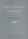 Dějiny antické literatury : II. díl, Římská literatura