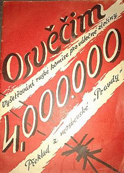 Osvěčim, hrob čtyř milionů nevinných obálka knihy