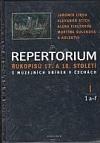 Repertorium rukopisů 17. a 18. století z muzejních sbírek v Čechách I. (1 a-f + 2 h-j)