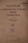 Slovník k Breindlovi výboru básní Ovidiových