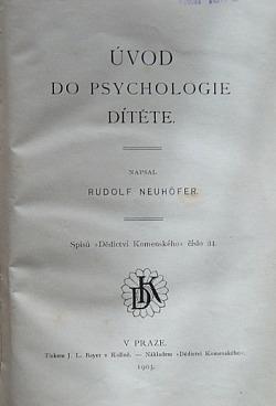 Úvod do psychologie dítěte