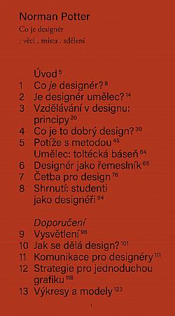 Co je designér: věci, místa, sdělení
