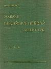 Soudobý lékařský herbář květeny ČSR
