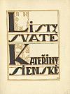 Listy svaté Kateřiny Sienské