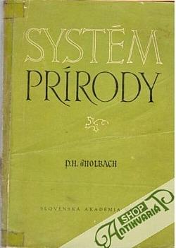 Systém prírody, alebo zákonov telesného a duchovného sveta obálka knihy