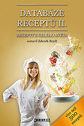 Databáze receptů II. obálka knihy