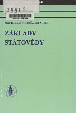 Základy státovědy obálka knihy