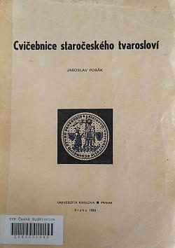 Cvičebnice staročeského tvarosloví obálka knihy