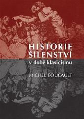 Historie šílenství v době klasicismu obálka knihy