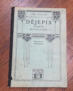 Dějepis církve katolické pro školy měšťanské obálka knihy