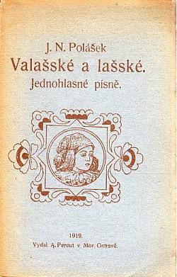 Valašské a lašské jednohlasné písně obálka knihy