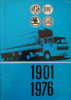 Sedmdesát pět let výroby užitkových automobilů v Severočeském kraji 1901 - 1976 obálka knihy