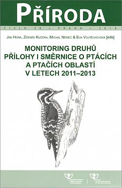 Monitoring druhů - přílohy I směrnice o ptácích a ptačích oblastí v letech 2011-2013 obálka knihy