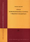 Vývoj konsonantického systému v řeckých dialektech obálka knihy