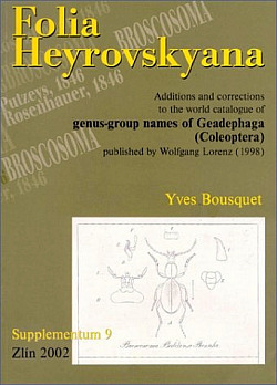 Folia Heyrovskyana, Supplement 9: Additions and corrections to the world catalogue of genus-group names of Geadephaga