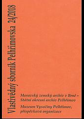 Vlastivědný sborník Pelhřimovska 24/2018 obálka knihy