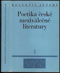 Poetika české meziválečné literatury obálka knihy
