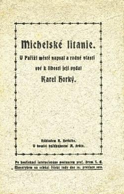 Michelské litanie obálka knihy