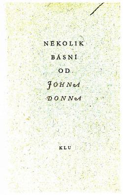 Několik básní od Johna Donna obálka knihy
