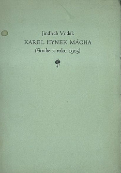 Karel Hynek Mácha obálka knihy