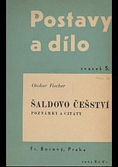 Šaldovo češství. Poznámky a citáty obálka knihy