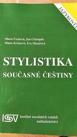 Stylistika současné češtiny obálka knihy