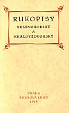 Rukopisy Zelenohorský a Královédvorský
