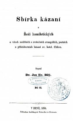 Sbírka kázaní a Řečí homiletických