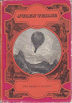 Pět neděl v balónu obálka knihy