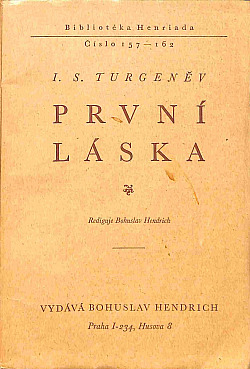 První láska obálka knihy