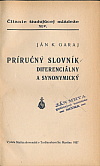Príručný slovník diferenciálny a synonymický