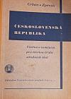 Československá republika - Učebnice zeměpisu pro čtvrtou třídu středních škol