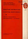 Magnae Moraviae fontes historici II obálka knihy