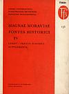 Magnae Moraviae fontes historici IV obálka knihy