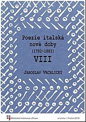 Poezie italská nové doby. VIII obálka knihy