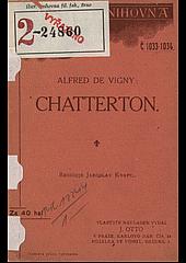 Chatterton obálka knihy