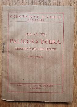 Paličova dcera čili Pražská děvečka a venkovský tovaryš obálka knihy