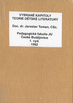 Vybrané kapitoly z teorie dětské literatury obálka knihy