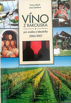 Víno z Rakouska pro znalce a labužníky 2006/2007 obálka knihy