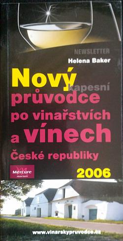 Nový kapesní průvodce po vinařstvích a vínech České republiky 2006 obálka knihy