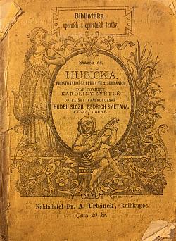 Hubička obálka knihy