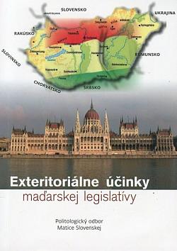 Exteritoriálne účinky maďarskej legislatívy obálka knihy